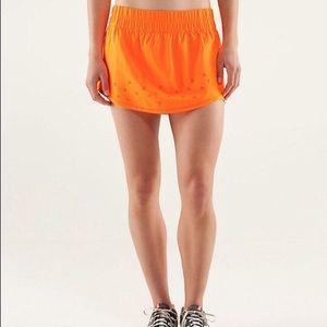 Orange Lululemon Skirt